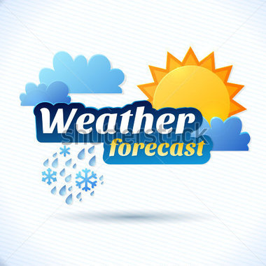 Vector Weather Forecast for TV OR Clouds and Sun and.