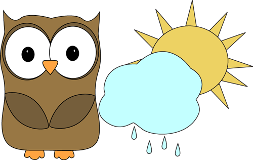 Owl Classroom Weather Helper Clip Art.