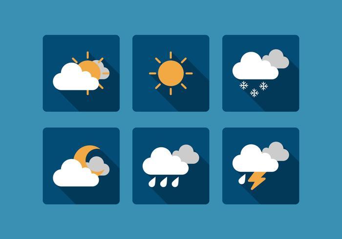 Vector Weather Icon Set.