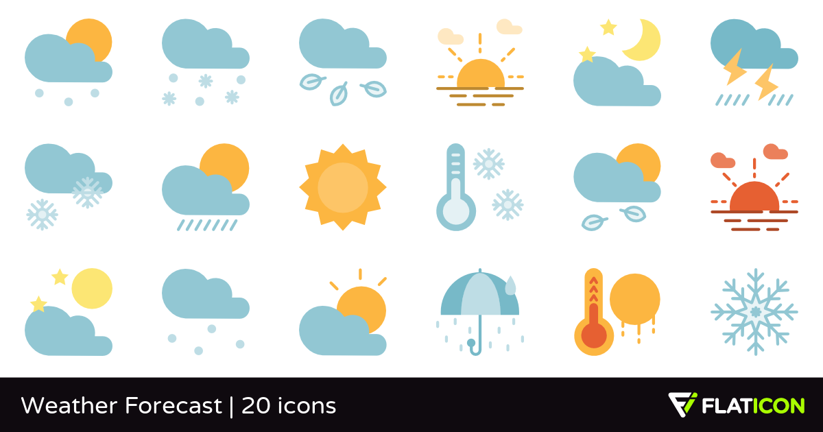 Weather Forecast 20 free icons (SVG, EPS, PSD, PNG files).