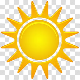 Beautiful Weather Icon Set, Sunny transparent background PNG.