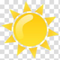Weather Icon Set, sun transparent background PNG clipart.
