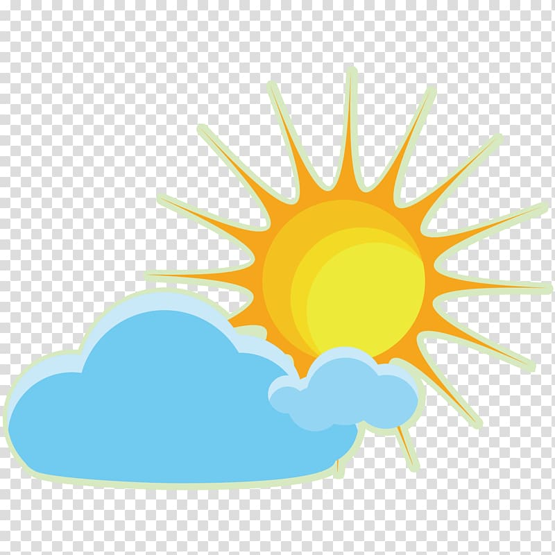 Sky Cloud Icon, cloudy weather icon material transparent.