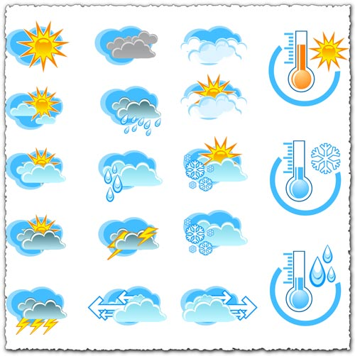 Transparent weather png icons.