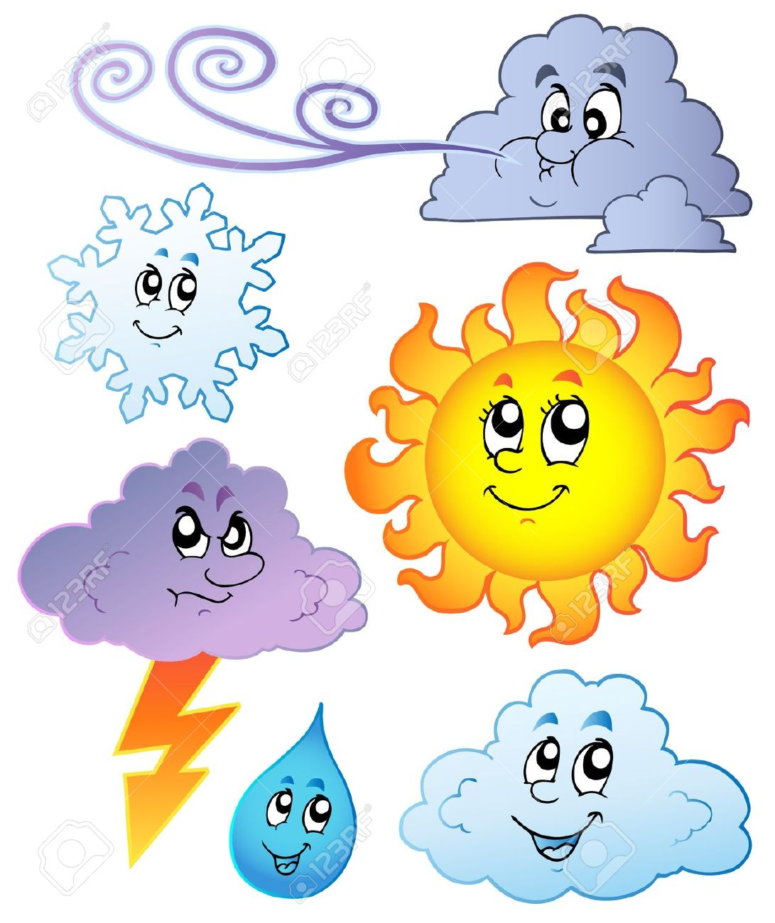 Child Weather Reporter Clipart.