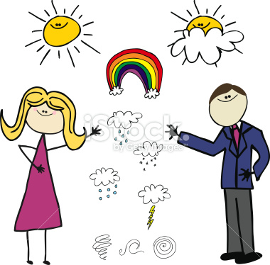 Weather Man Clipart.
