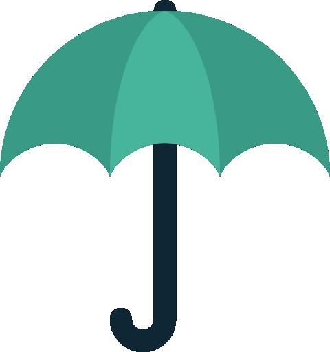 Forecast, protection, rain, umbrella, weather icon.