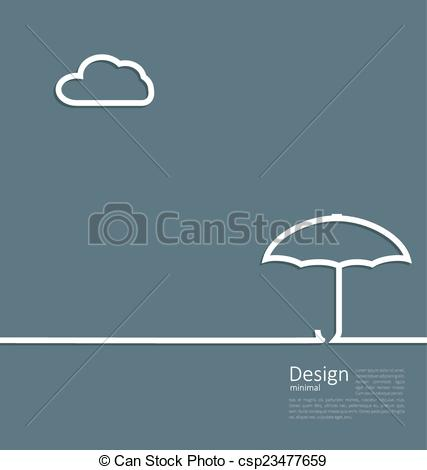 Clipart Vector of umbrella protection it weather the concept of.