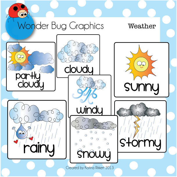 Types of weather clipart.