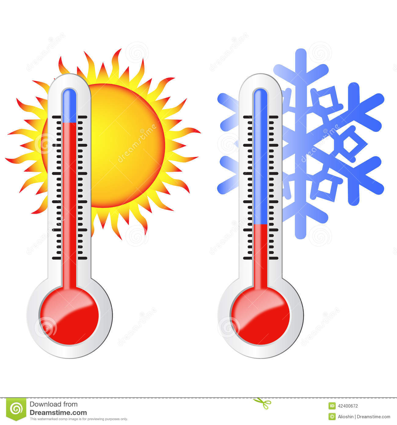 Symbol Weather Thermometer Clipart.