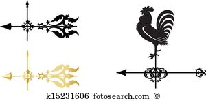 Weather vane Clip Art EPS Images. 393 weather vane clipart vector.