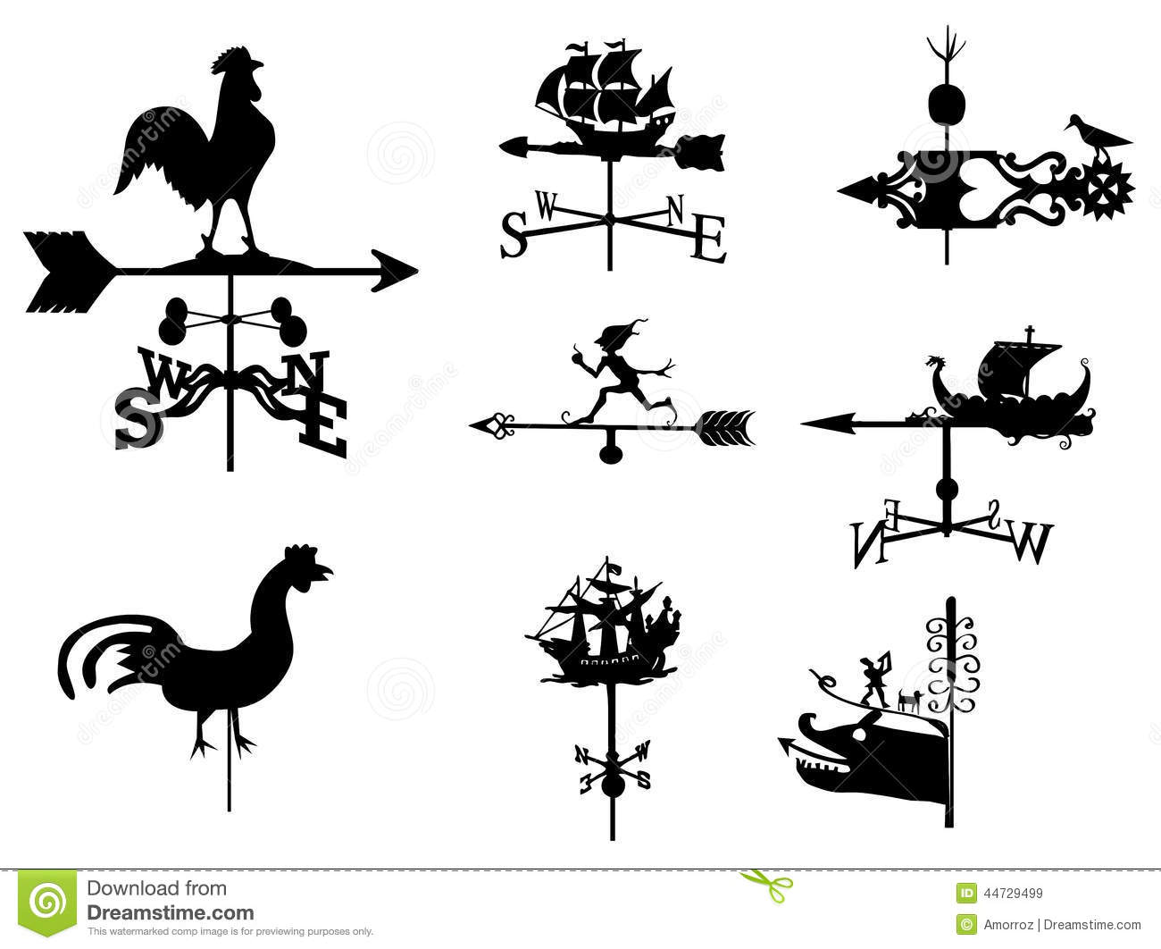 Weathercock Stock Illustrations.