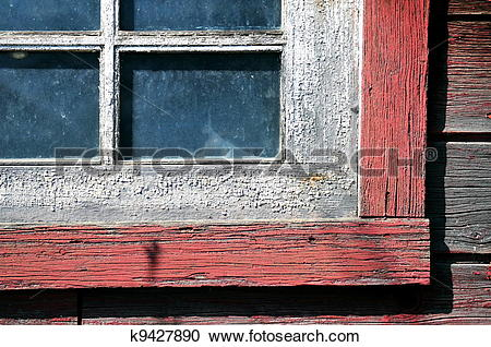 Stock Photography of Old Weathered Window k9427890.