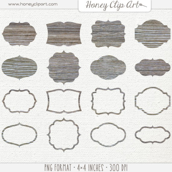 Weathered Wood Clipart.