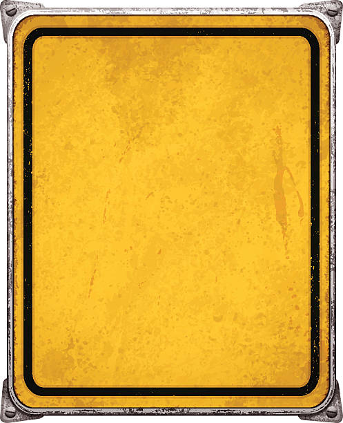 Grunge Metal Background With Yellow And Black Distressed Texture.
