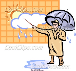 Weatherman Vector Clip art.
