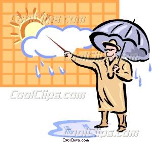 Weatherman Vector Clip art.