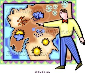 weather man Vector Clip art.