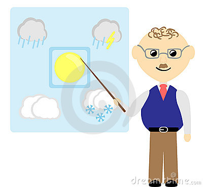 Weatherman Stock Illustrations.
