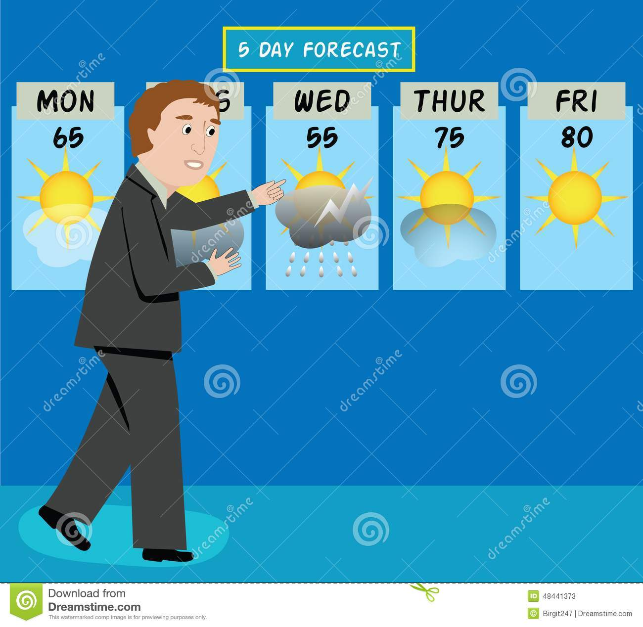 Weatherman Clip Art.