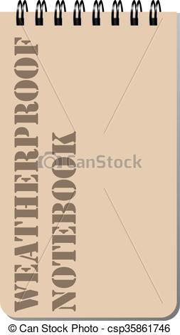 EPS Vector of Weatherproof notebook.
