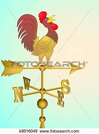Stock Illustration of Rooster cartoon weather vane k8916049.