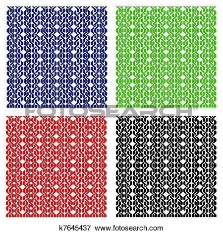 Clip Art of Weaving pattern seamless k7645437.