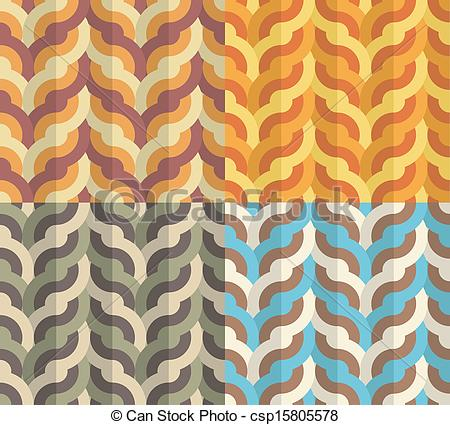 Vectors Illustration of Geometric Weaving Pattern.