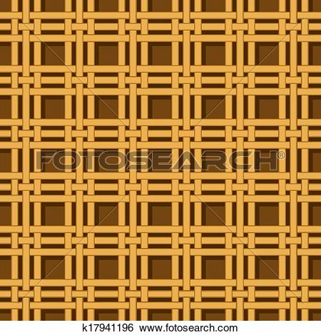 Clip Art of wicker basket weaving pattern seamless texture.