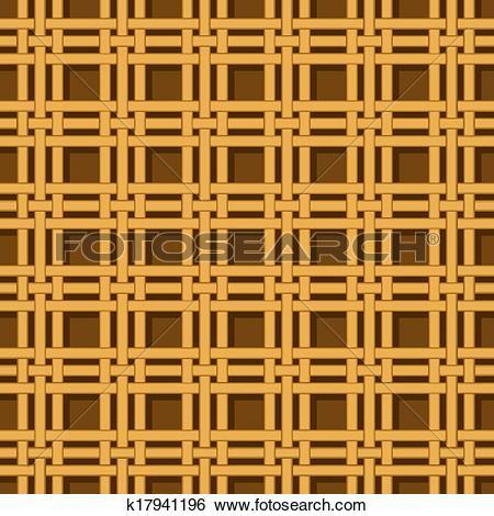 Clip Art of wicker basket weaving pattern seamless texture.