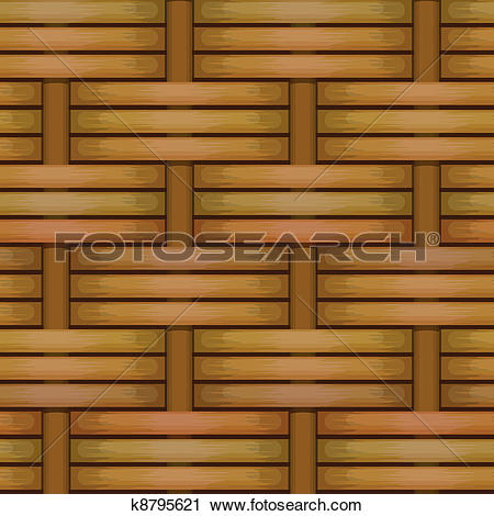 Clipart of wicker basket weaving pattern seamless texture k8795621.