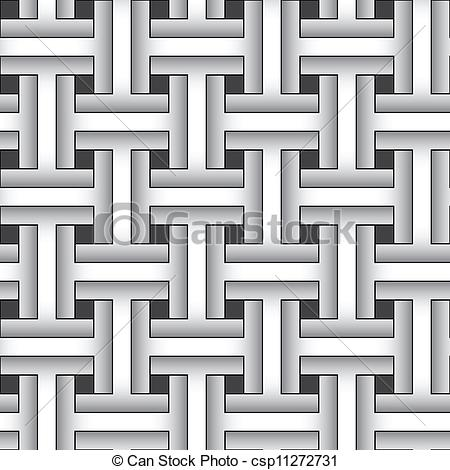 Vectors of Weaving abstract pattern.