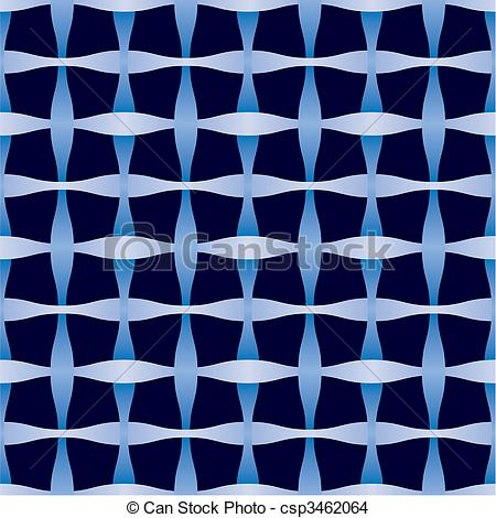 Vector Clip Art of Abstract seamless weaving pattern. Background.