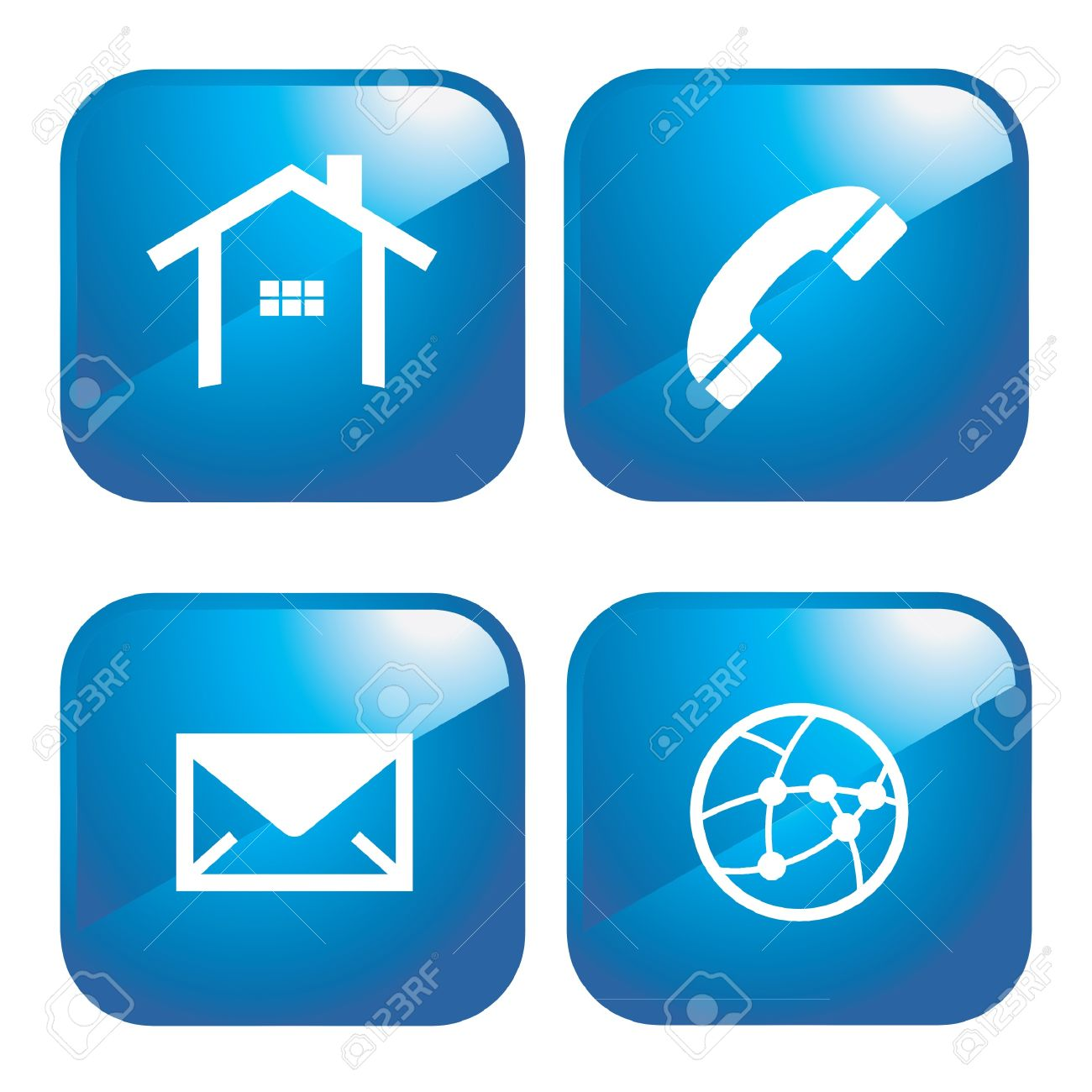 Internet Web 2.0 Icons Royalty Free Cliparts, Vectors, And Stock.