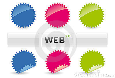 Web 2.0 Stickers And Buttons Royalty Free Stock Image.