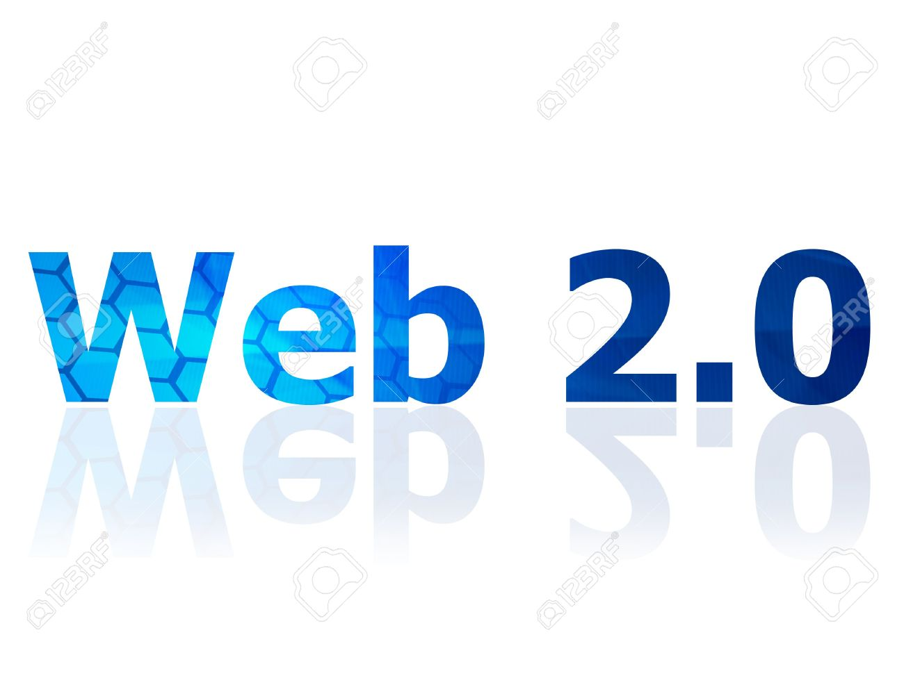 The Web 2.0 Symbol Which Represents The Internet Stock Photo.