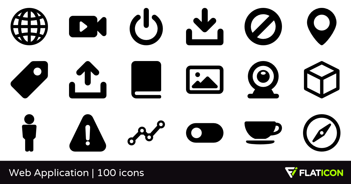 Web Application 100 free icons (SVG, EPS, PSD, PNG files).