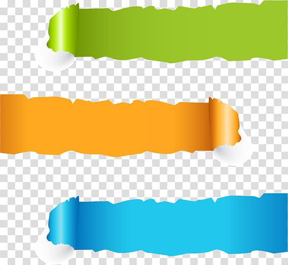 Paper Web banner Page, Banner, green, orange, and blue strip.