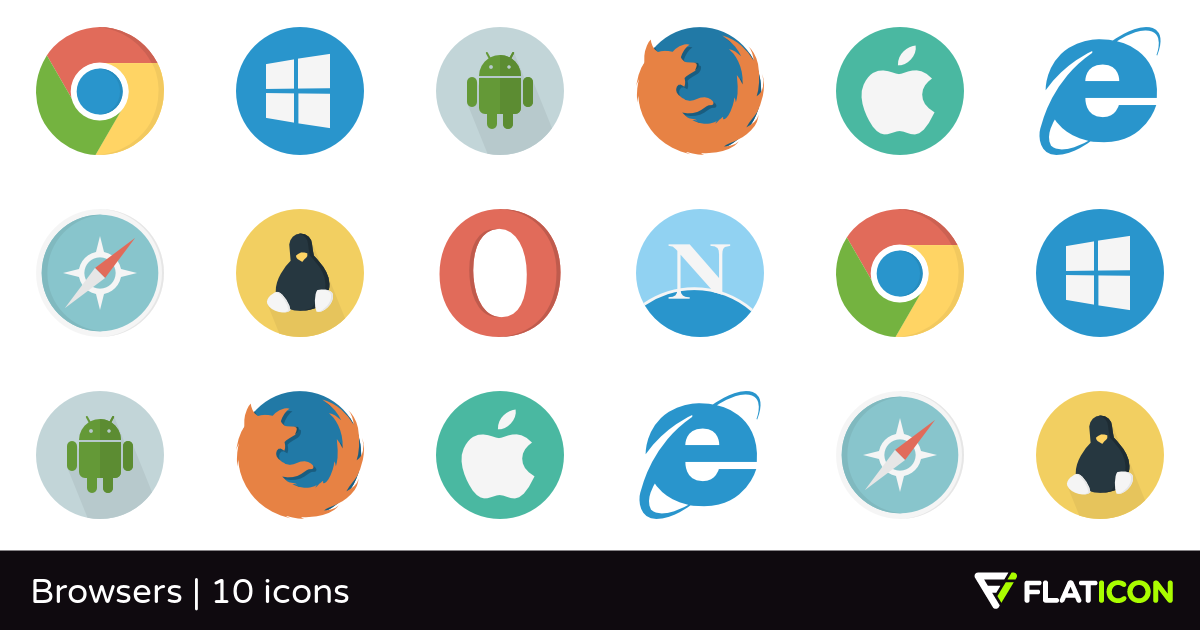 Browsers 10 free icons (SVG, EPS, PSD, PNG files).