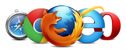 Browsers PNG Transparent Images.