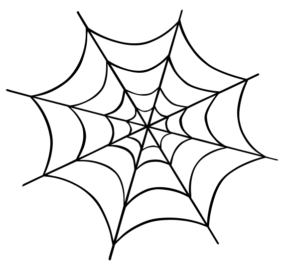 Web clipart halloween spiders clipart free cute spider web.