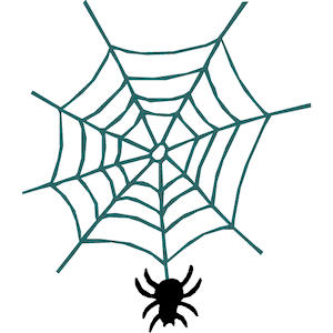 Spider web free vector design spiders clip art.