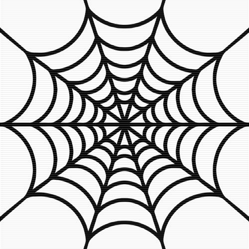 Spider Web Clipart Black And White.