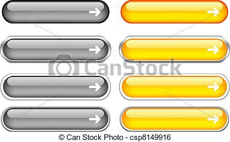 Clip Art Vector of Web buttons..
