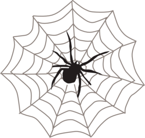Spider web clipart free clipart image 4 clipartcow.