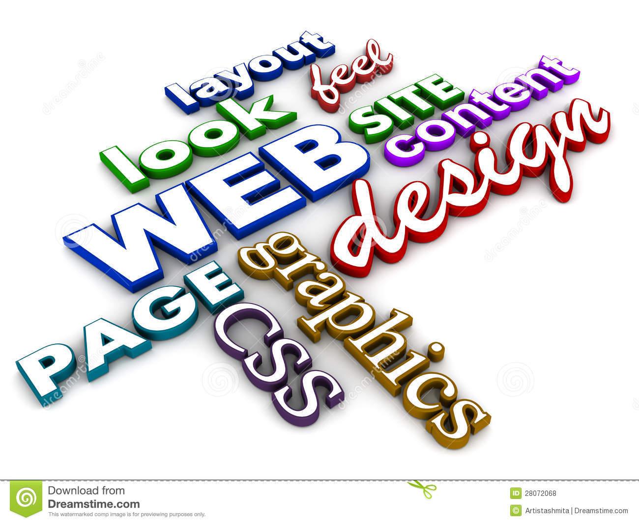 Web design clip art.
