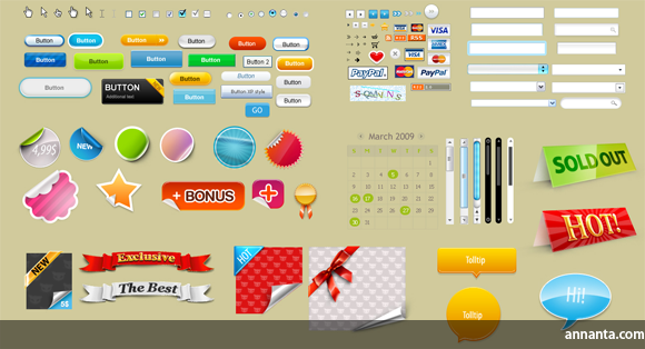 Website Design Elements (20124) Free Download / 4Vector.