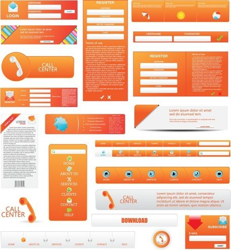 Free Web Design Elements 05s Clipart and Vector Graphics.