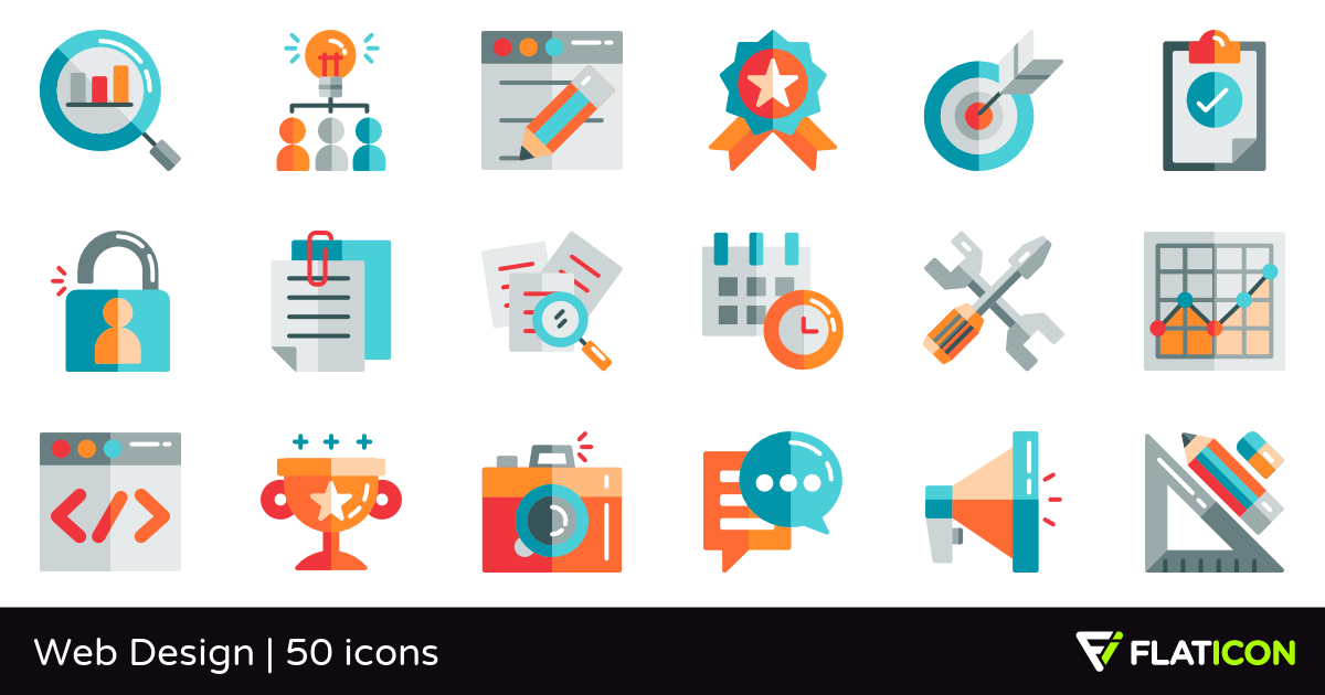 Web Design 50 free icons (SVG, EPS, PSD, PNG files).
