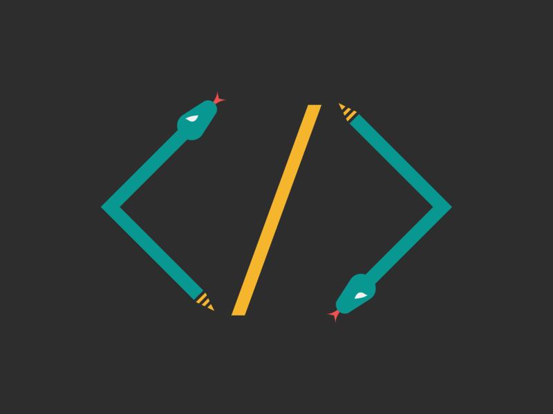 Snake / Web Developer Logo Idea by Mark O\'Black on Dribbble.